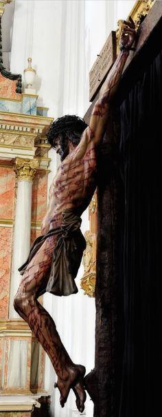 Jesus Crucificado, conforme o Santo Sudário. Este Cristo fica na Universidade de Córdoba.
