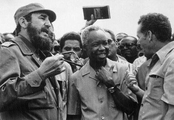 Fidel Castro and Julius Nyerere of Tanzania