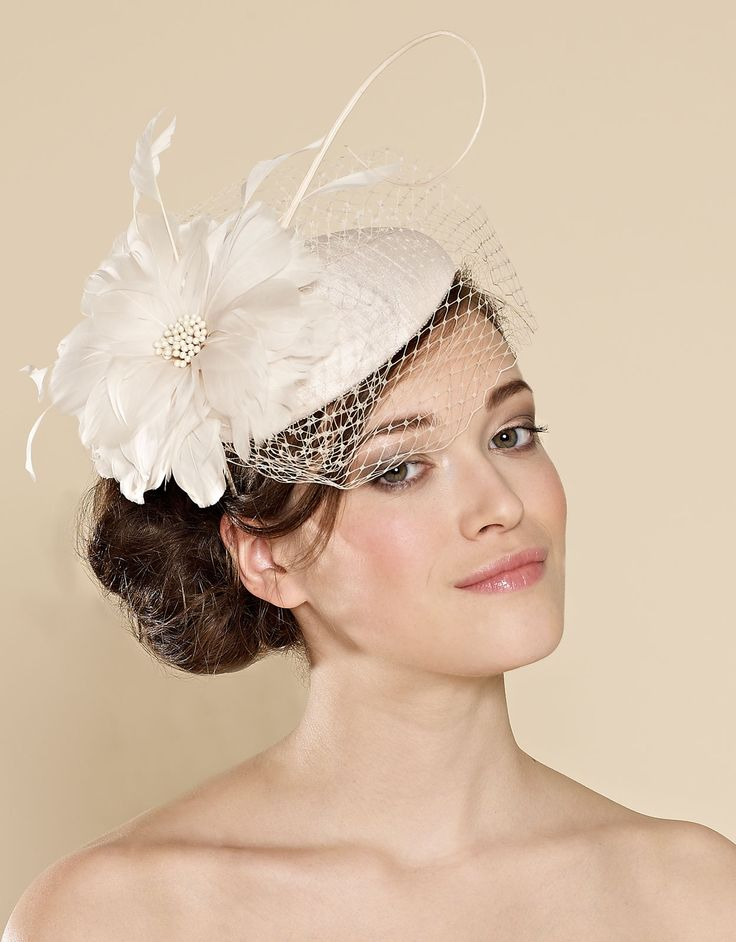Ascot Shanting and Feather Veiled Pill Box