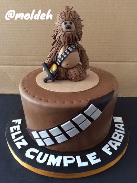 Pastel de cumpleaños con diseño de Chewbacca en 3D // 3D Chewbacca birthday cake