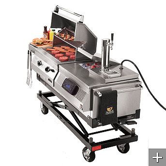 Grill and Chi;l Tailgater with Draft System....regulates gas flow, shows gas cylinder levels, and automatically shuts off the;gas in the event of  major leak