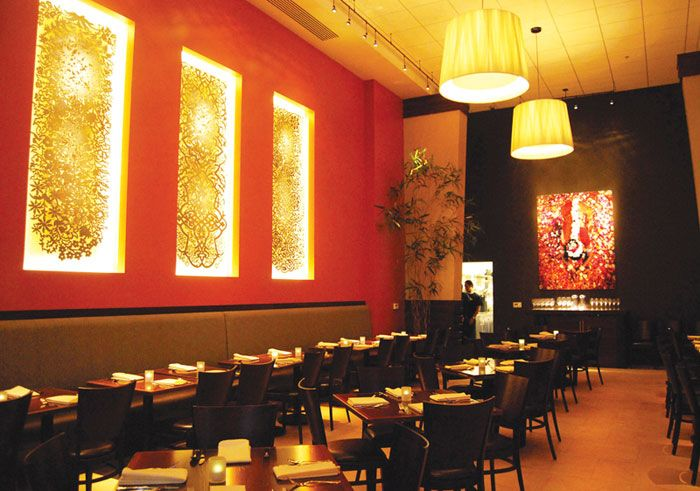 204 best images about interior design for dawaat restaurant on pinterest paisley fabric henna for Small indian restaurant interior design