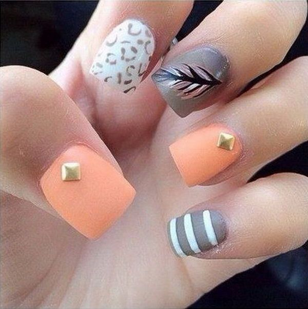 Strips and Feather Nails. Very pretty!