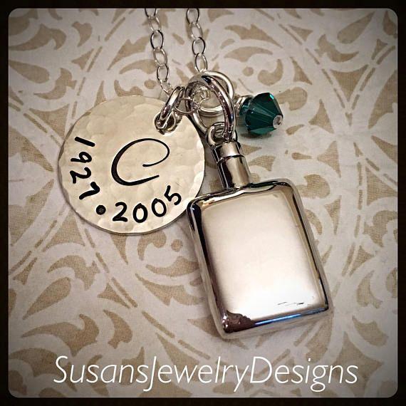 Sterling Urn halsketting sterling zilver 1 zijdig remschijf