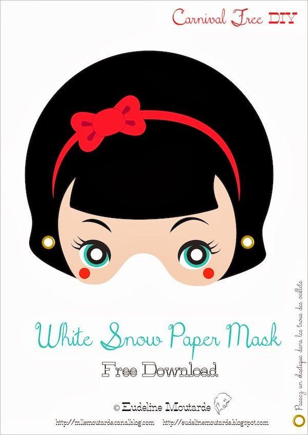 Máscaras de Blancanieves para Imprimir Gratis. - Ideas y material gratis para fiestas y celebraciones Oh My Fiesta!