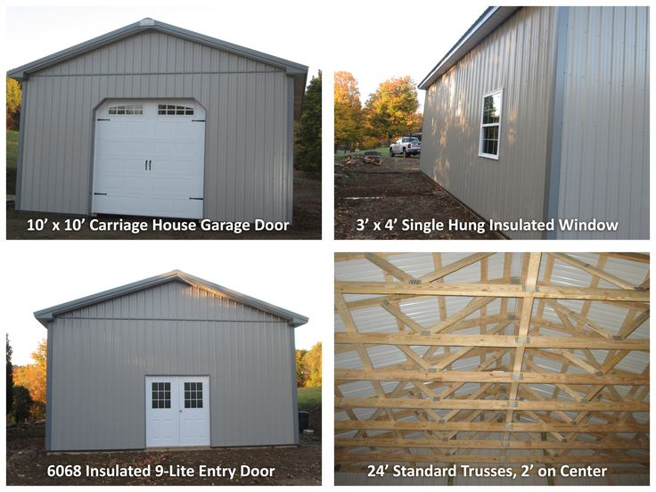 Check out this 24 39 w x 32 39 l x 12 39 h garage 10 39 x 10 for 12 x 12 insulated garage door