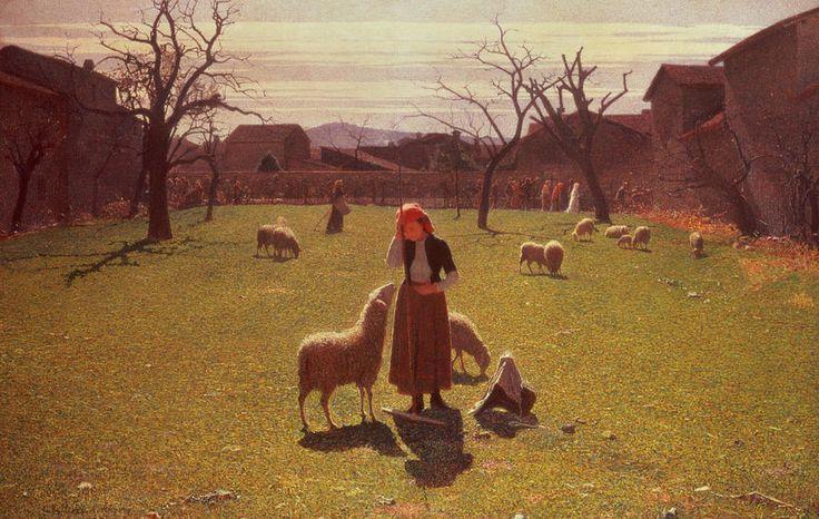 Giuseppe Pellizza da Volpedo (1868-1907). Italian painter. Deluded+hopes
