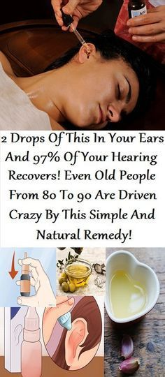Ear drop remedies for hearing recovering.