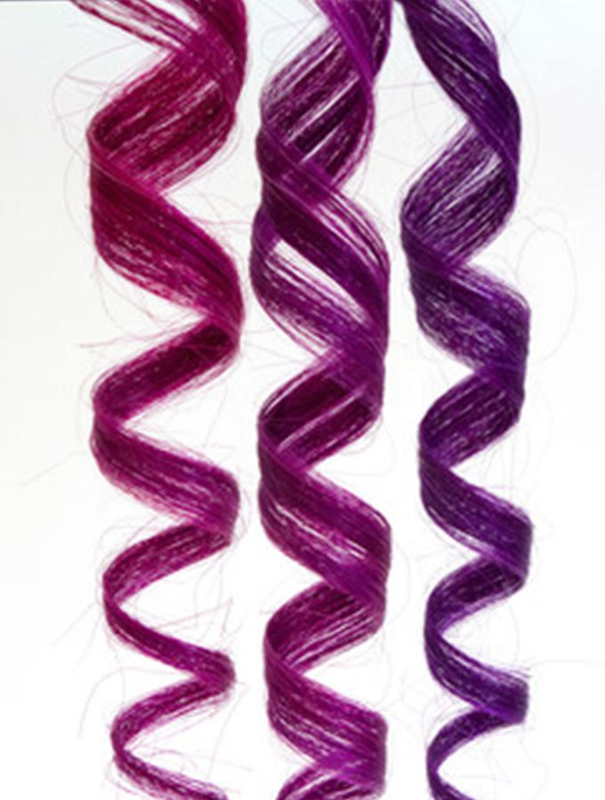 Did you know you can create your own custom hair color by mixing oVertone colors? Here we've shown the results of mixing pinks and purples.