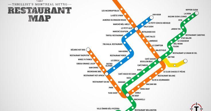 Montreal restaurant metro stops Next stop: food.