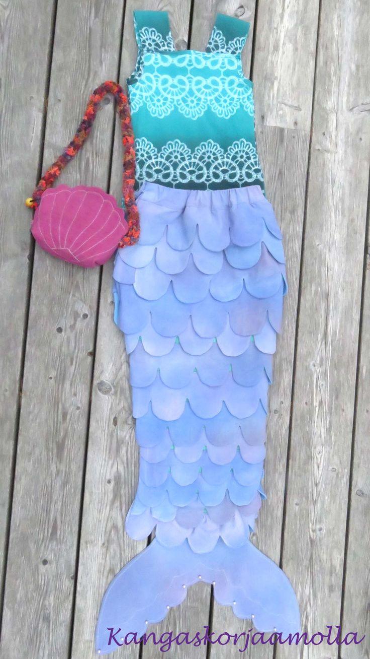 mermaid dress merenneitopuku https://kangaskorjaamolla.blogspot.fi/2016/10/merenneitopuku.html