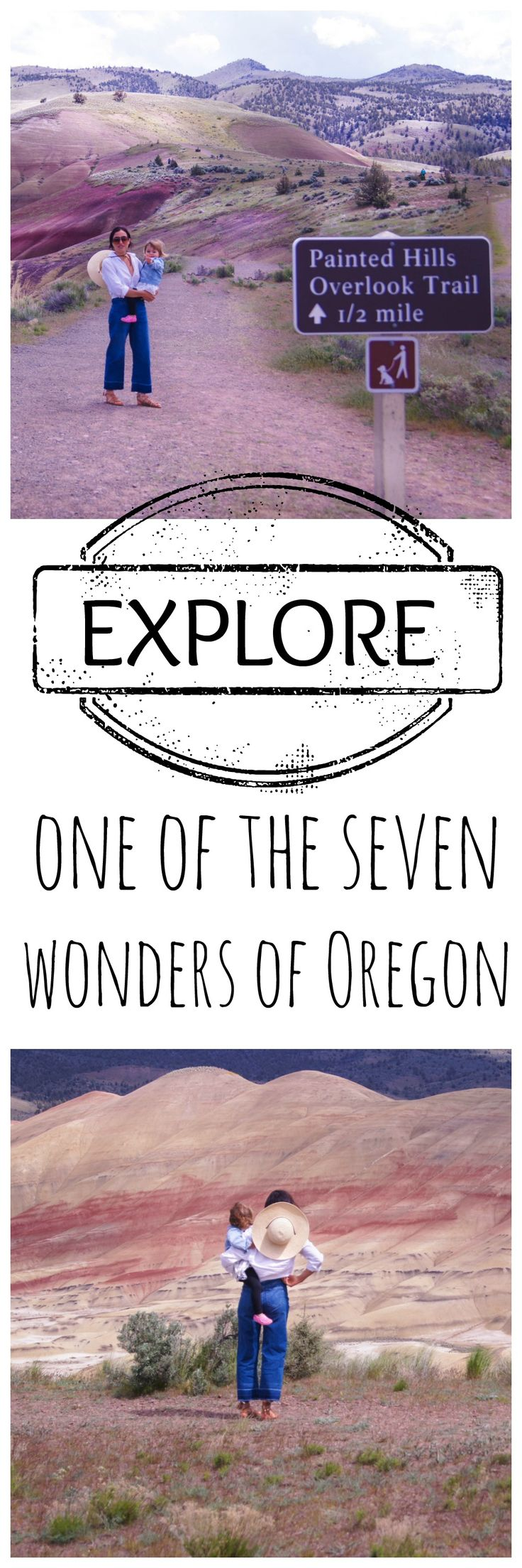 Explore one of the 7 wonders of Oregon, the painted hills. It is a quick day trip from Bend, Oregon and don't forget to take you camera because it is one of the most picturesque places. The hikes are kid friendly too.