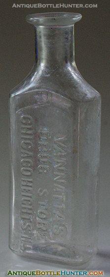 VANNATTA'S Drug Store Chicago Heights Ill. Apothecary Pharmacist Quack Med IL Medicine Illinois Pharmacy Dr. Druggist + More Antique Bottles on Etsy, $18.00