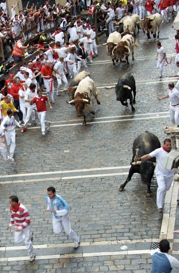 Running of the Bulls ... Festival of San Fermin ... Pamplona, Spain