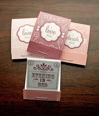 Valentine's Day gift ~ Adorable love coupons in matchstick form! What a great idea!! <3: Holiday, Ideas, Love Coupons, Craft, Valentines, Coupon Matchbooks, Diy, Matchbox