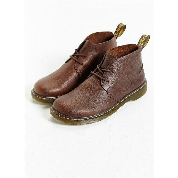 Dr. Martens Ember Desert Boot ($120) ❤ liked on Polyvore featuring men's fashion, men's shoes, men's boots, brown, mens brown shoes, dr martens mens boots, dr martens mens shoes and mens brown boots