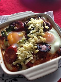Baked Eggs with Chorizo I Made by me
