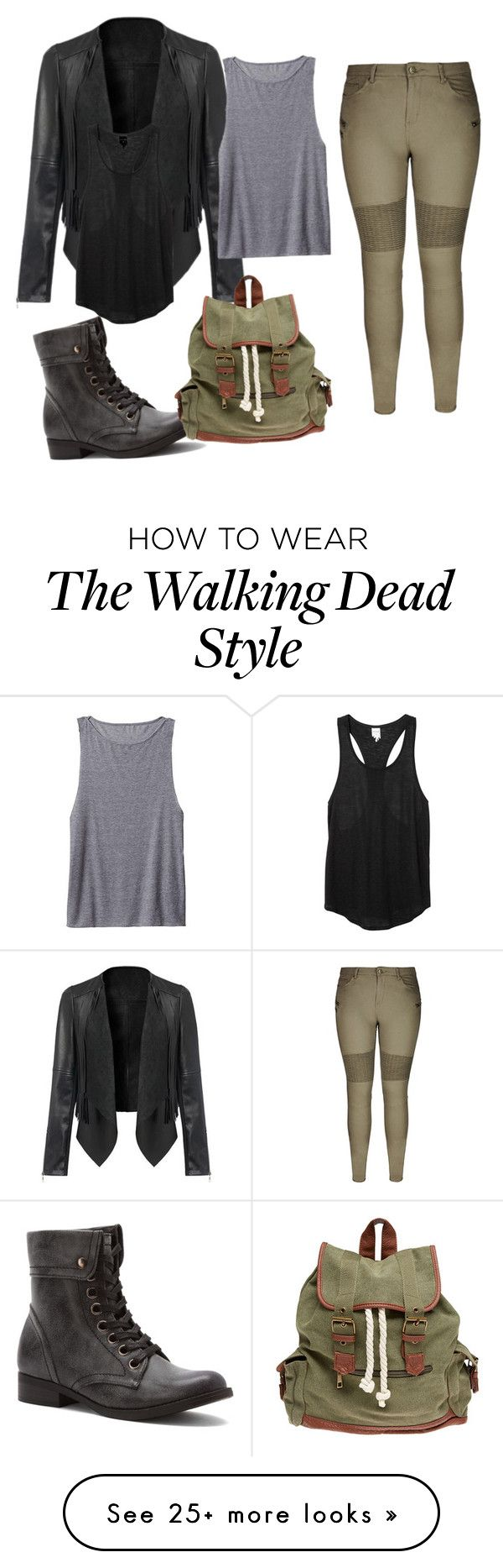 """Walking dead inspired"" by rachaelthompson on Polyvore featuring 2 Lips Too, City Chic, Wet Seal, Athleta and Monki"