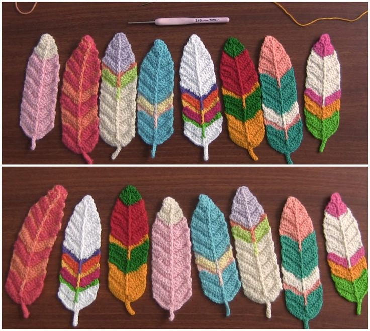 Reversible Feathers Crochet Tutorial