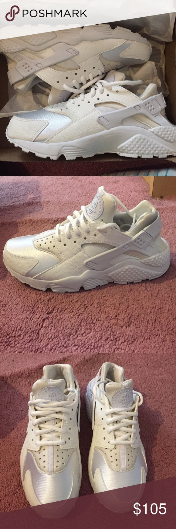 Women's all white huaraches size 7 Brand new look . Worn once . No stains. Nike Shoes Sneakers