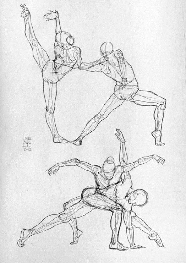 Dance & martial arts movement anatomy sketches [18P].jpg