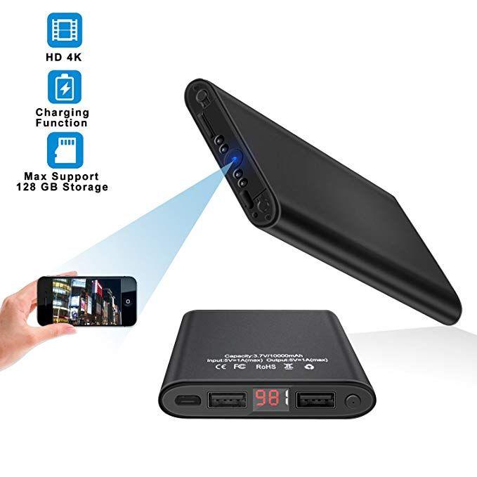 Poetele 1080P 10000mAh WiFi Hidden Power Bank Camera with Motion Detection,Night