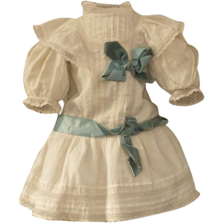~~~ Lovely Antique French Cotton Bebe Costume ~~~
