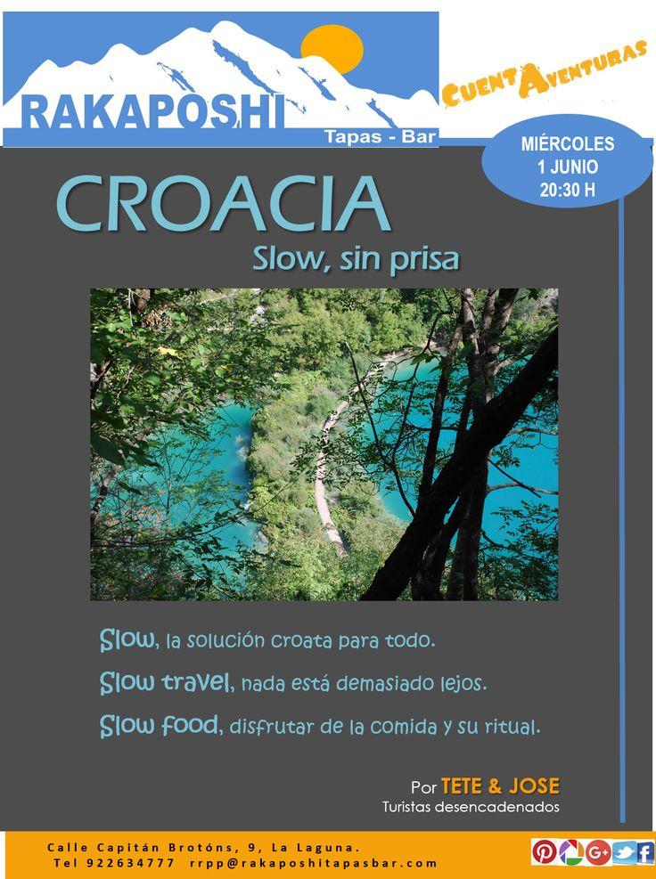 Te apetece conocer Croacia?. Pues no te pierdas la charla de Tete y Jose mañana 1 de junio a las 20:30 h #cuentaventuras