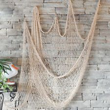 High Nautical Fishing Net Seaside Wall Beach Party Sea Shells Home Garden Decor