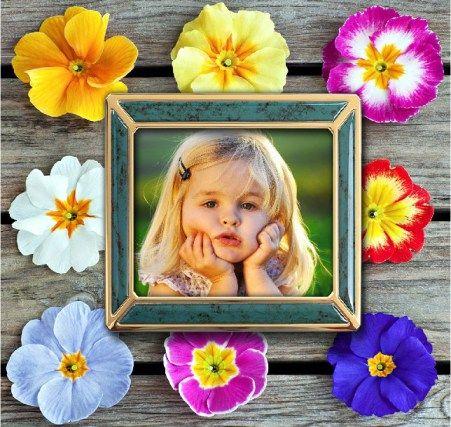 Hacer fotomontajes con flores