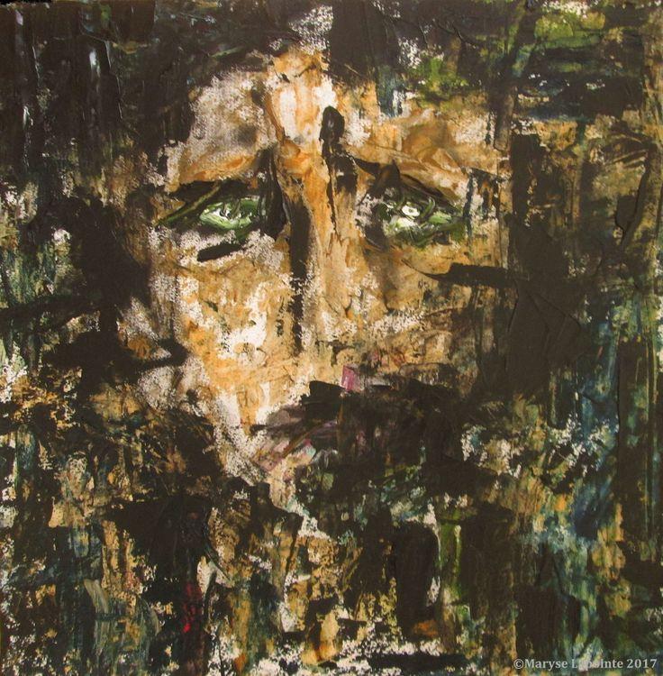 État d'âme, 4 mai / State of Mind, May 4 - 2017  #art, #oiloncanvas, #abstract, #abstractexpressionism, #oilpainting, #abstrait, #expressionnismeabstrait, #maryselapointe, #dekooning, #borduas, #automatisme,  #tableauàl'huile, #autoportrait, #selfportrait, #schiele, #pain, #sadness, #depression, #tristesse, #dépression, #http://maryselapointe.net/