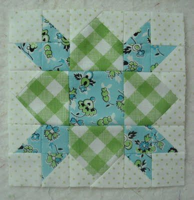 Weathervane.  I love this adorable little block.  I can imagine it in brights, pastels, darks, plaids....  -from http://beeinmybonnetco.blogspot.com/2011/07/easy-weathervane-quilt-block-tutorial.html