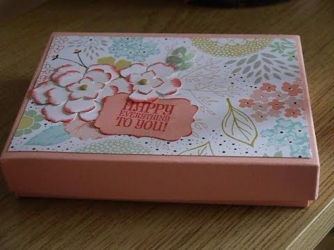 ▶THis is a greast sturdy box made with the envelope punch board