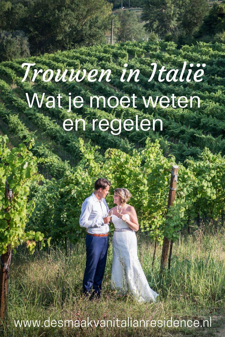 Droom jij er ook van om te trouwen in Italie? In het mooie Toscane of aan de Amalfi kust? Italien Residence vertelt je precies wat je moet wetenn en regelen voor een perfecte bruiloft in Italie