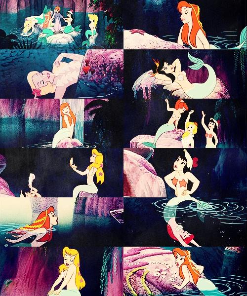 Peter Pan - Mermaid Lagoon ........... LOOK AT THE ONE WITH SEAWEED