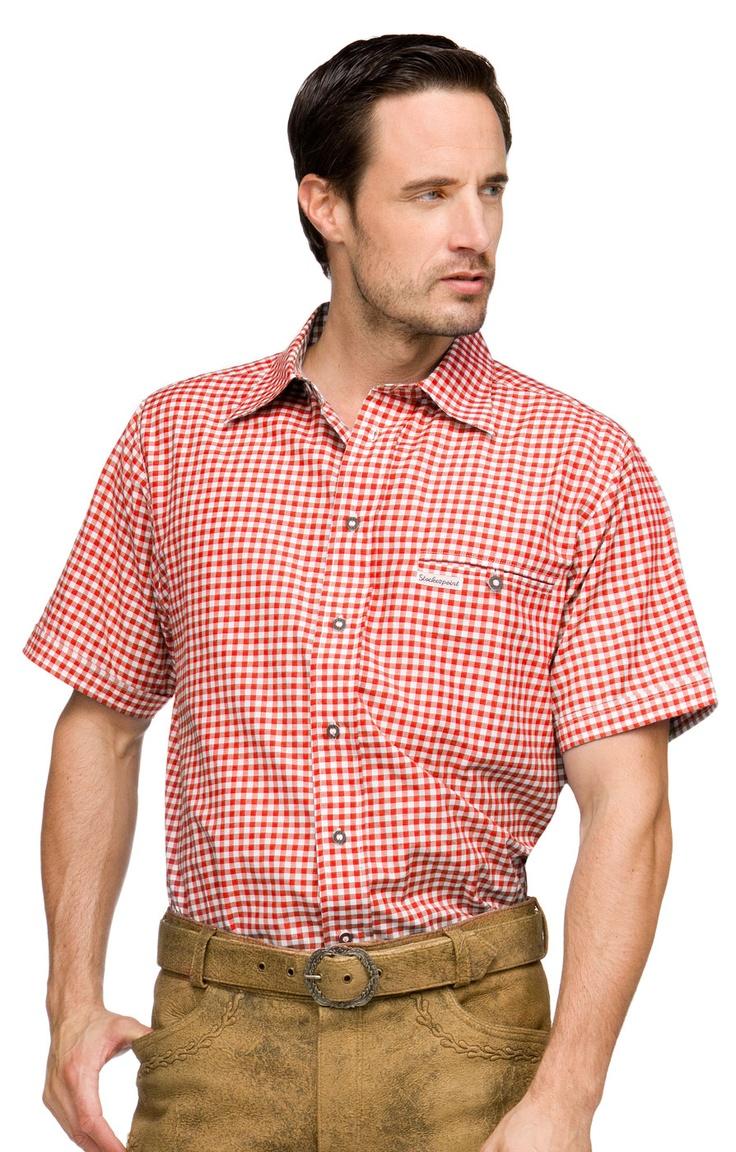 Stockerpoint Trachtenhemd Renko2 rot Halbarm Karohemd