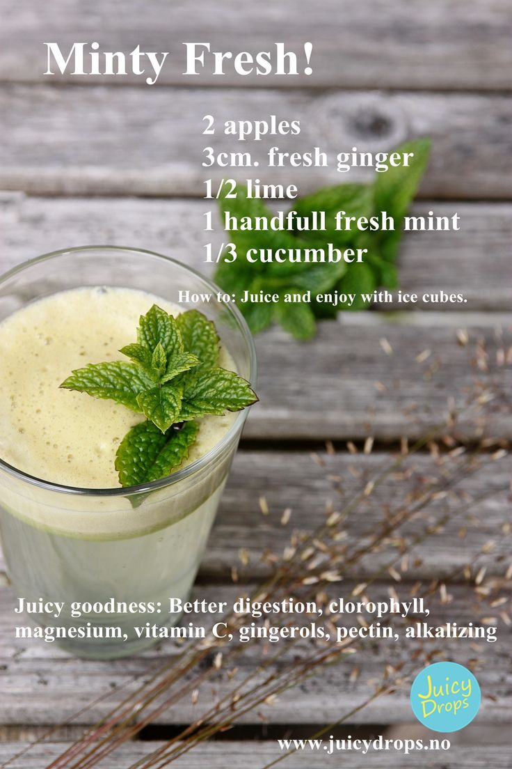 Mint juice for a better digestion
