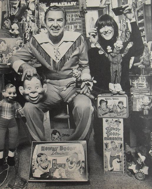 Photo of Buffalo Bob with Howdy Doody memorabilia: Toys, Games, Vintage Lunchboxes, and Puppets (1960s) ~ Photo by...Christain Montone©