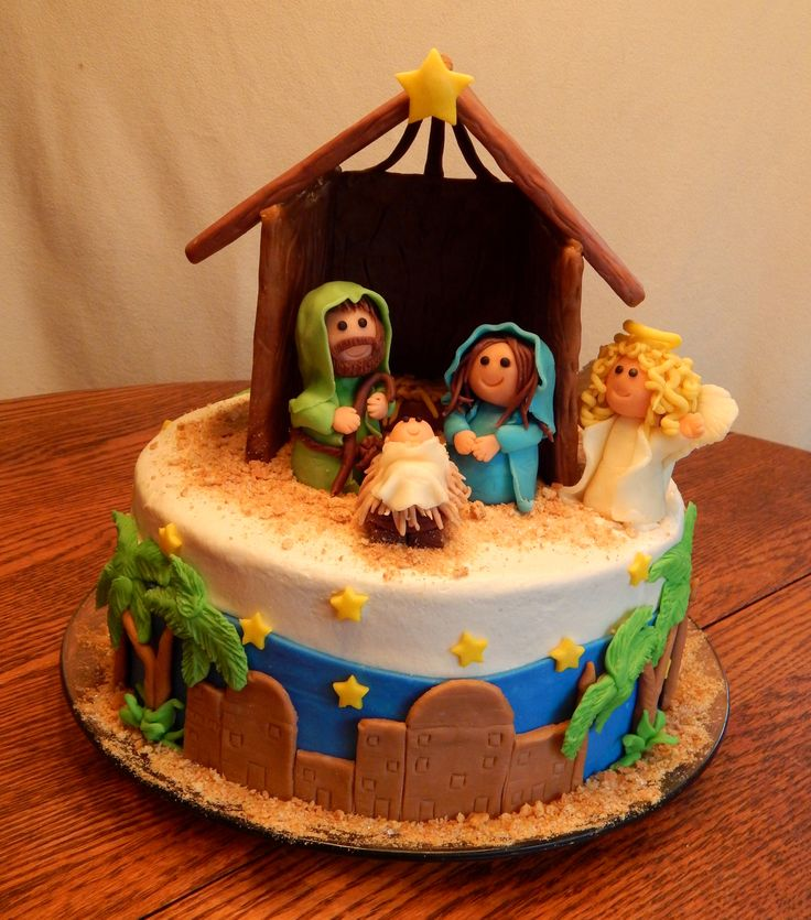 Nativity Christmas Cake Design : 603 best images about Religious Cakes on Pinterest ...
