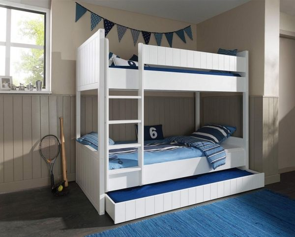 Das Etagenbett Luna. #Etagenbett #Kinderbett #Bett #Weiß #Leiter #Bettkasten