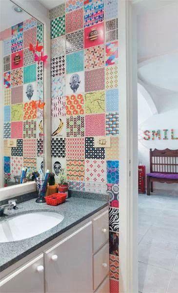Mais de 1000 ideias sobre Adesivo Para Banheiro no Pinterest  Blog Decoração -> Banheiro Apartamento Decorado Adesivo