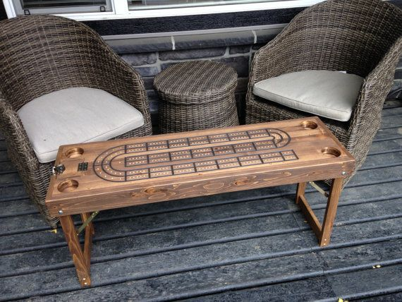 Cribbage Table Cribbage Board End Table by ScrapWoodGifts on Etsy