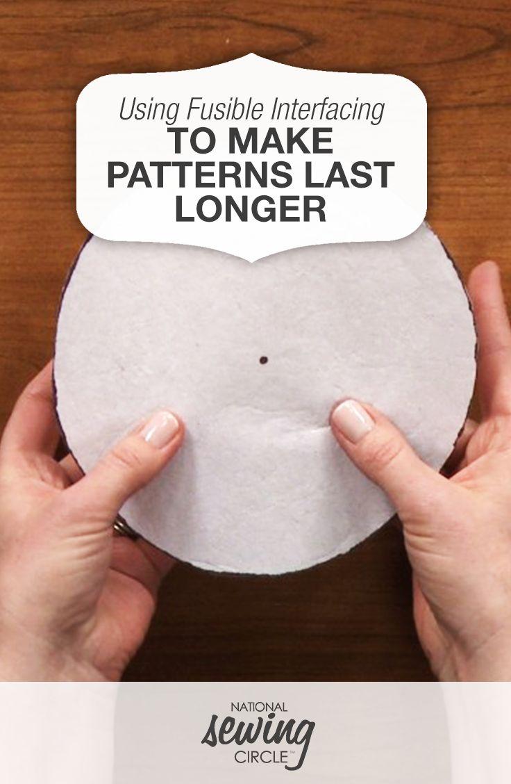 Using Fusible Interfacing to Make Patterns Last Longer