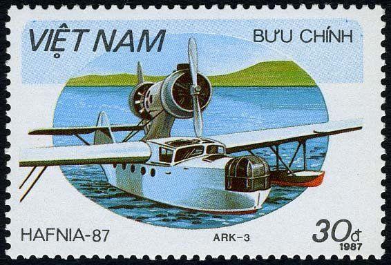 Stamp: Tschetwerikow ARK-3-2 (Vietnam) (International Stamp Exhibition HAFNIA `87 Copenhagen, Aircra) Mi:VN 1865,Yt:VN 839