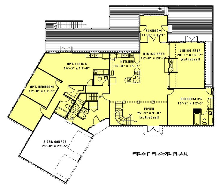 In Law Apartment Floor Plan House Ideas Pinterest