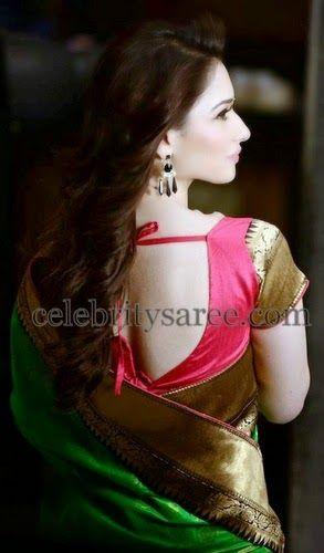 Tamanna's Simple Blouse Pattern | Saree Blouse Patterns