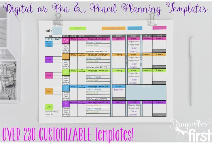 17 Best Ideas About Printable Teacher Planner On Pinterest