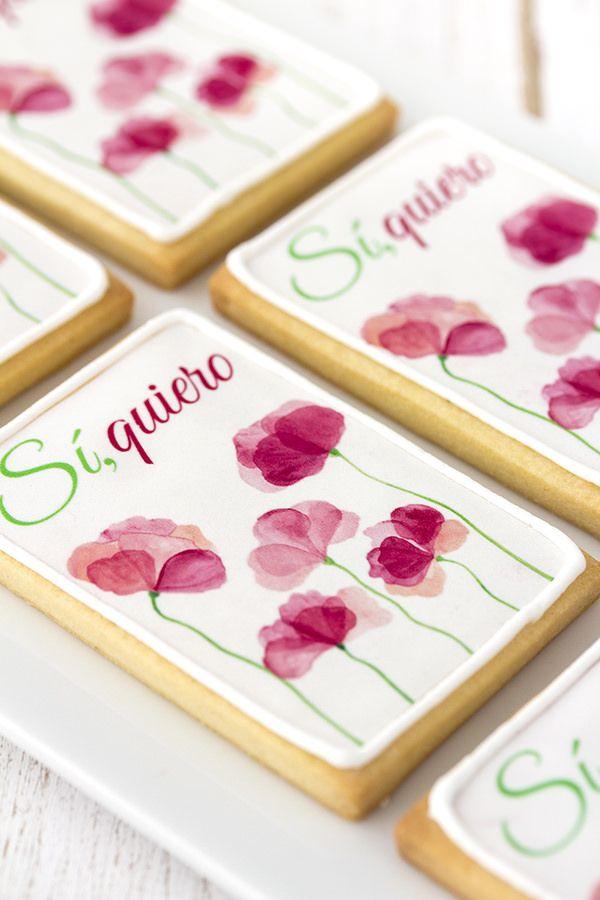 Postreadicción galletas decoradas, cupcakes y cakepops: Galletas decoradas de boda