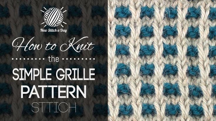 How to Knit the Simple Grille Pattern/ This stitch creates a dense pattern with lots of texture. The simple grille pattern stitch would be great for blankets, scarves and coffee cozies!
