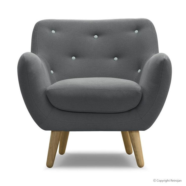 Zakary Danish Designer Occasional Chair - Charcoal